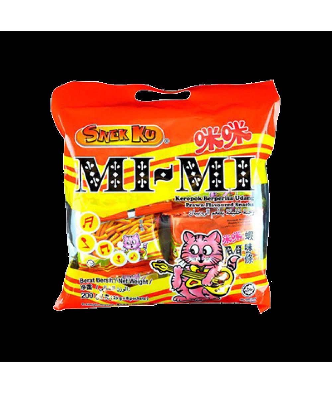 Snekku Mimi Prawn Flavour Snacks 25g*8s