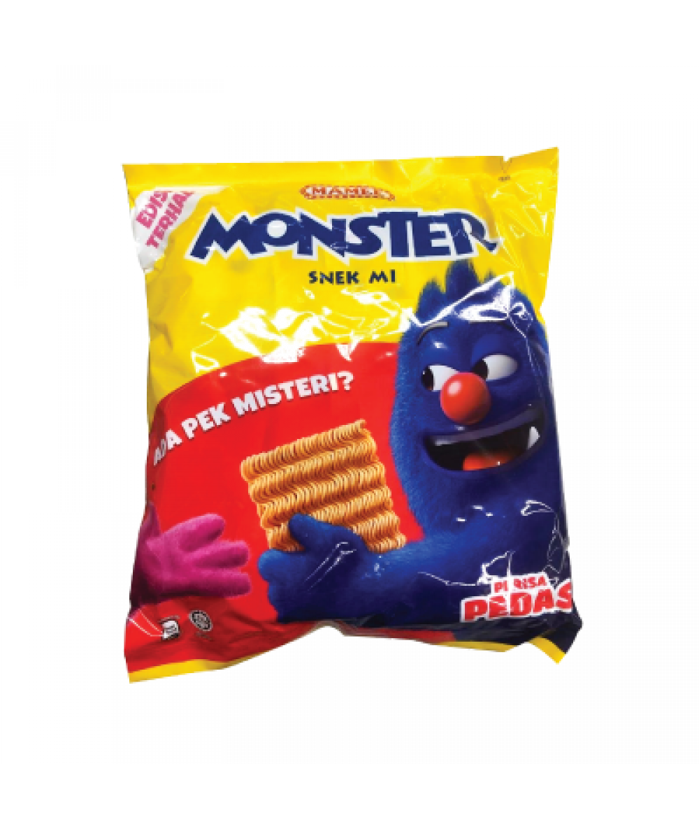 Mamee Monster Hot&Spicy 25g*8's