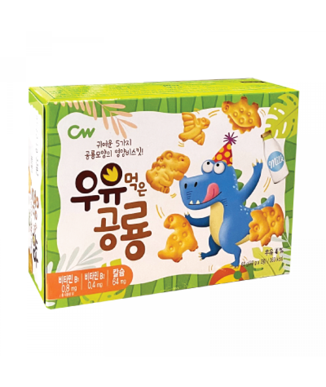 *Cw Dinosaur Biscuit Milk 60g