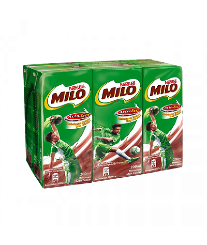Milo RTD UHT 200ml*6's