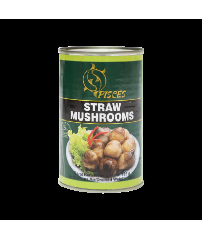 Pisces Straw Mushroom 425g