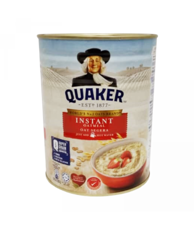 *Quaker Oatmeal Instant Foil Red Tin 800g