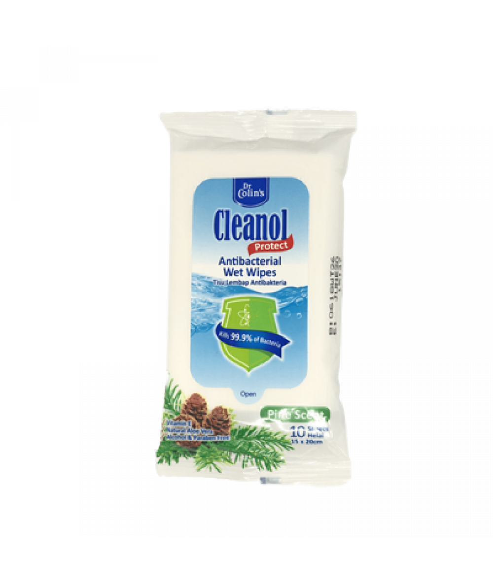 Dr Colin's Wet Wipes 10s (Pinescent)