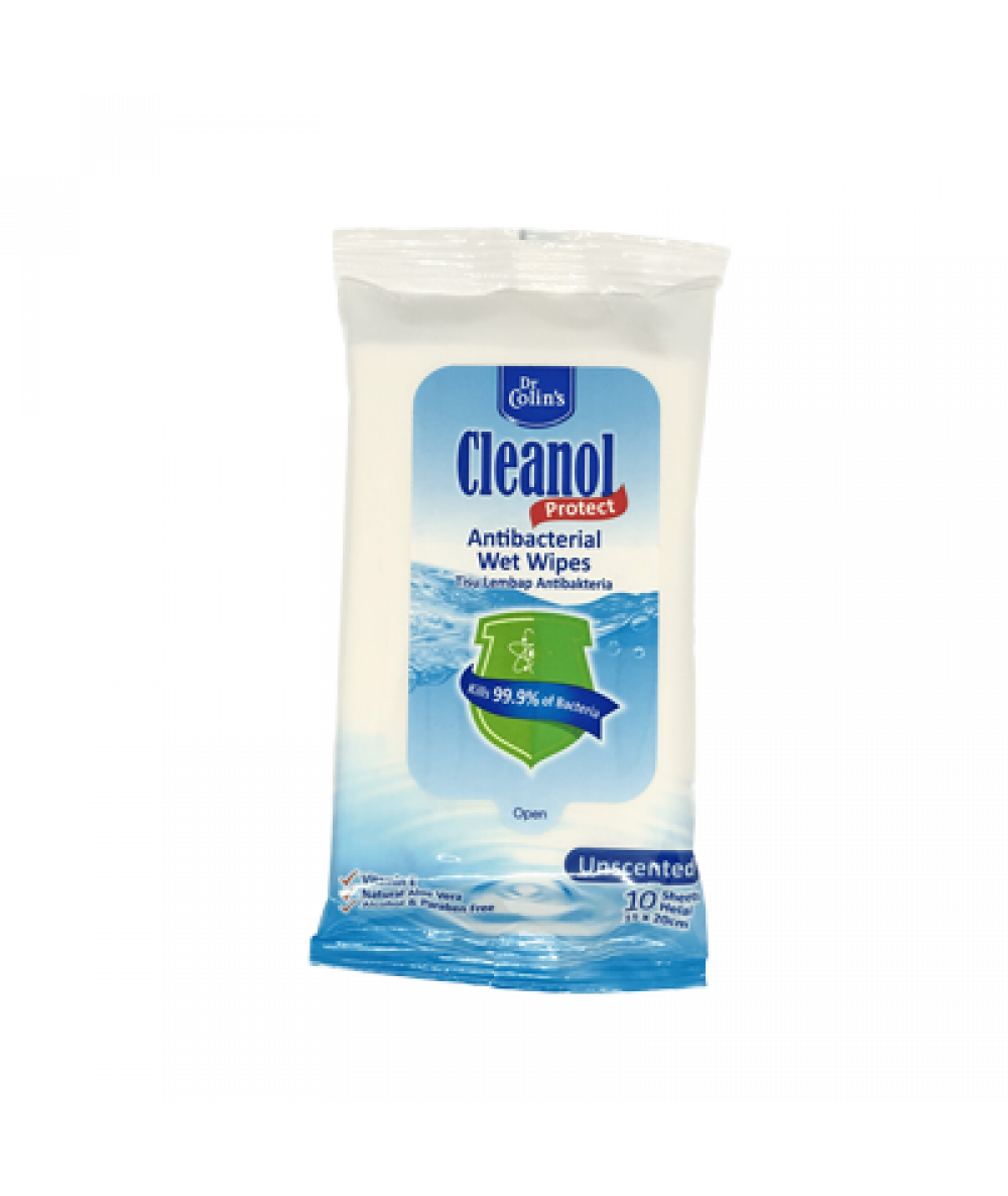 *Dr Colin's Wet Wipes 10s (Unscented)
