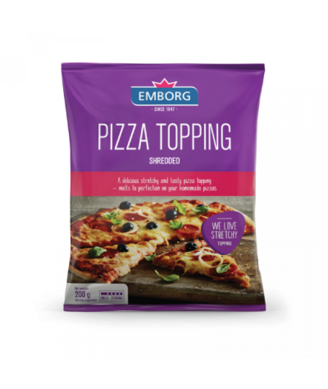 Emborg Shredded Pizza Topping 200g