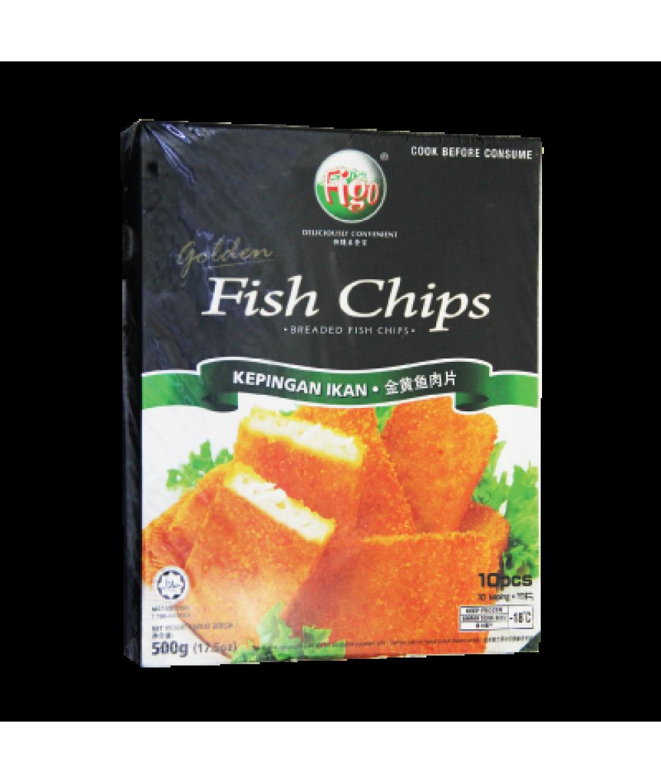 Figo Golden Fish Chips 500g 黄金鱼条