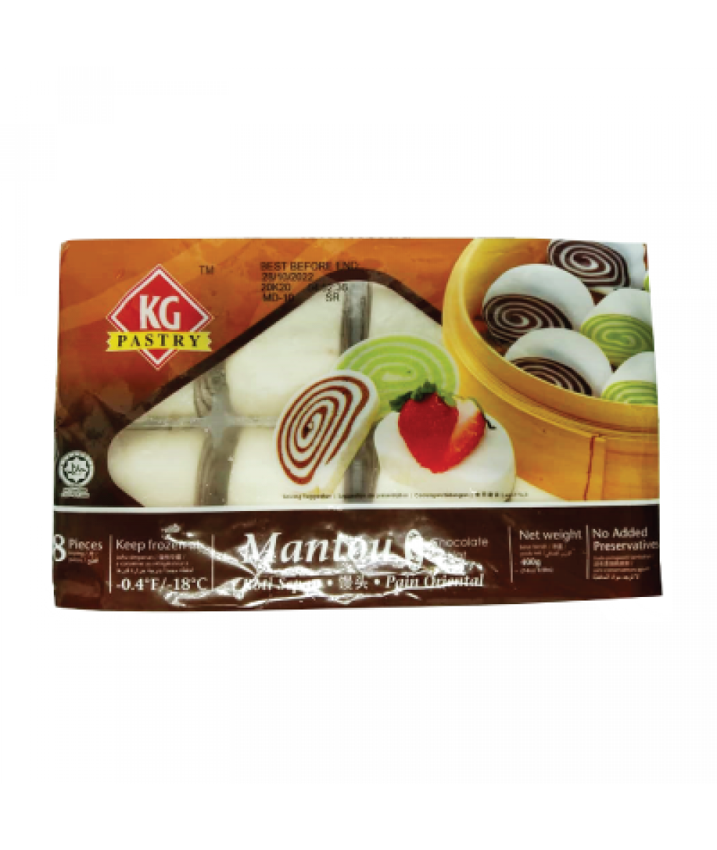 KG Mantou Chocolate 8's 400g 巧克力馒头