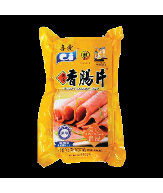 CI CHIC SAUSAGE SLICE 400g 鸡肉香肠片
