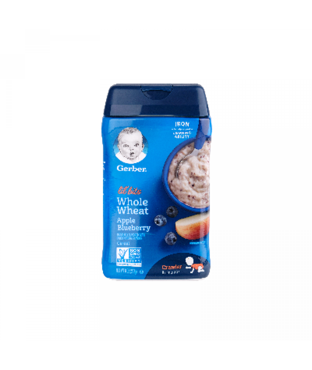 Gerber Lil' Bits Cer Whole Wheat Apple Blueberry 2
