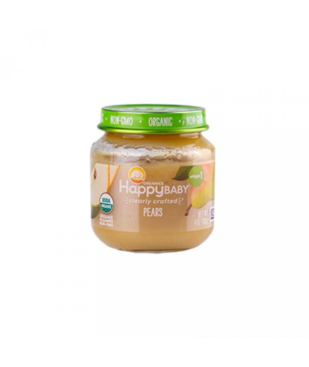 Happy Baby S1 Pear Clearly Crafted Jars 113g