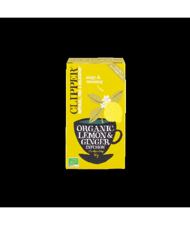 Clipper Organic Lemon & Ginger Tea 50g