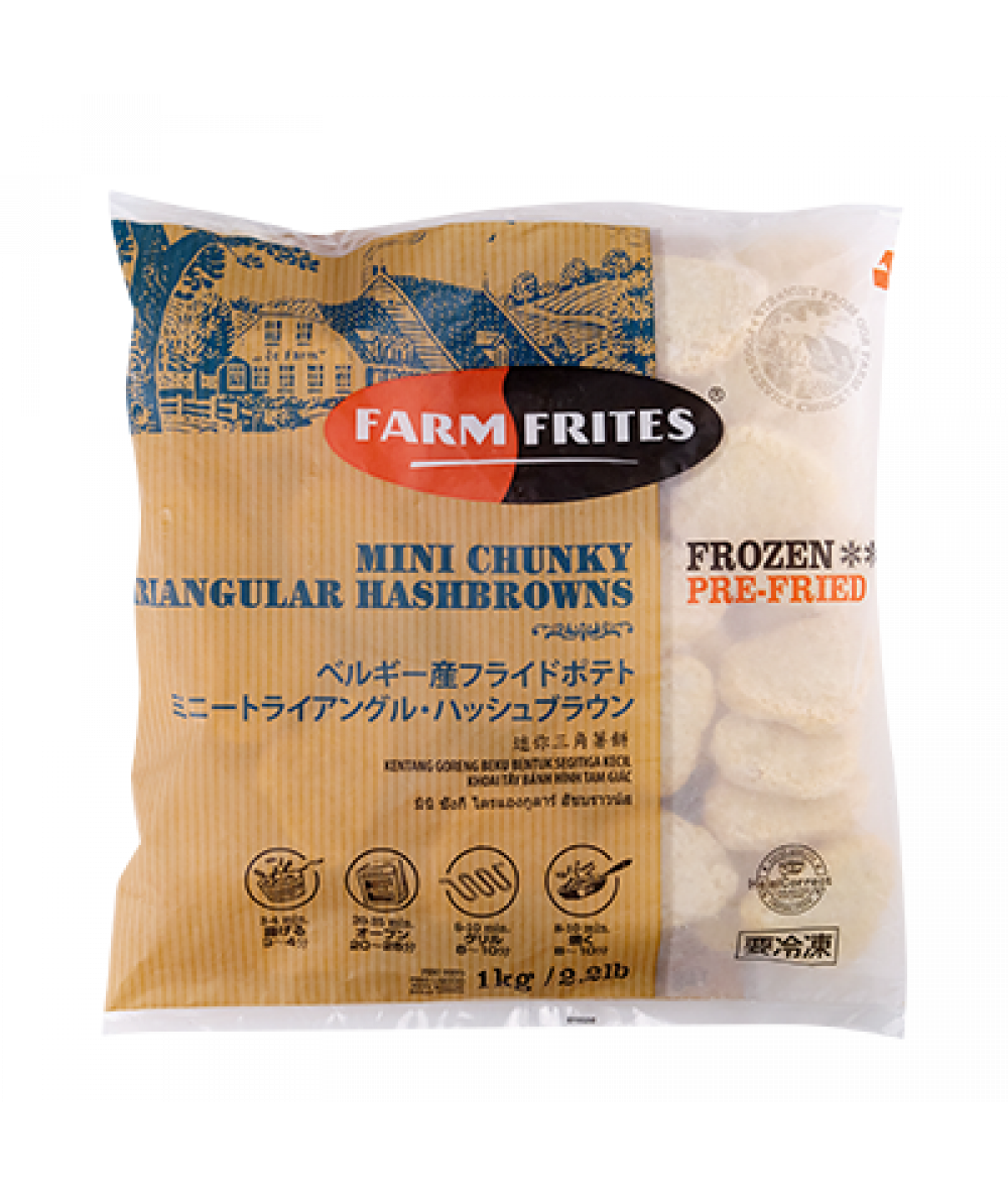 Farmfrites Mini Chunky Triangle Hashbrown 1kg
