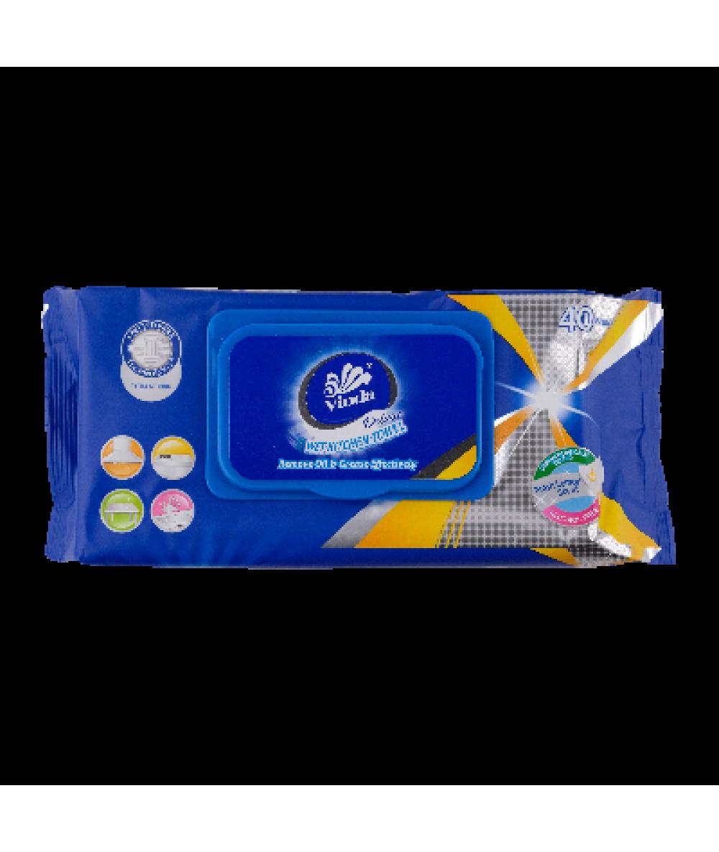 Vinda Deluxe Wet Kitchen Towel 40sheets,