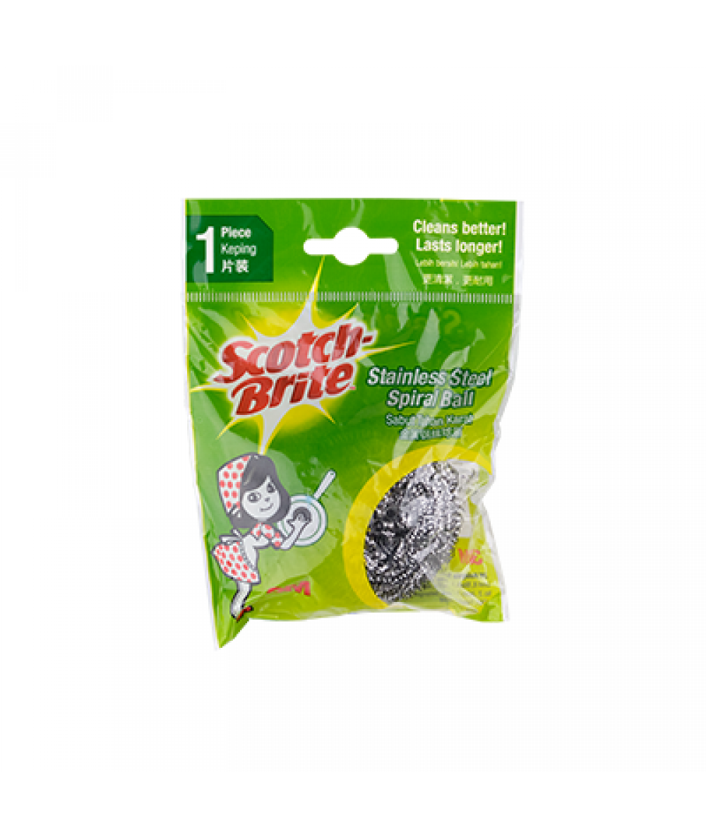 Scotch-Brite 333 Metallic Spiral Ball 1pc,
