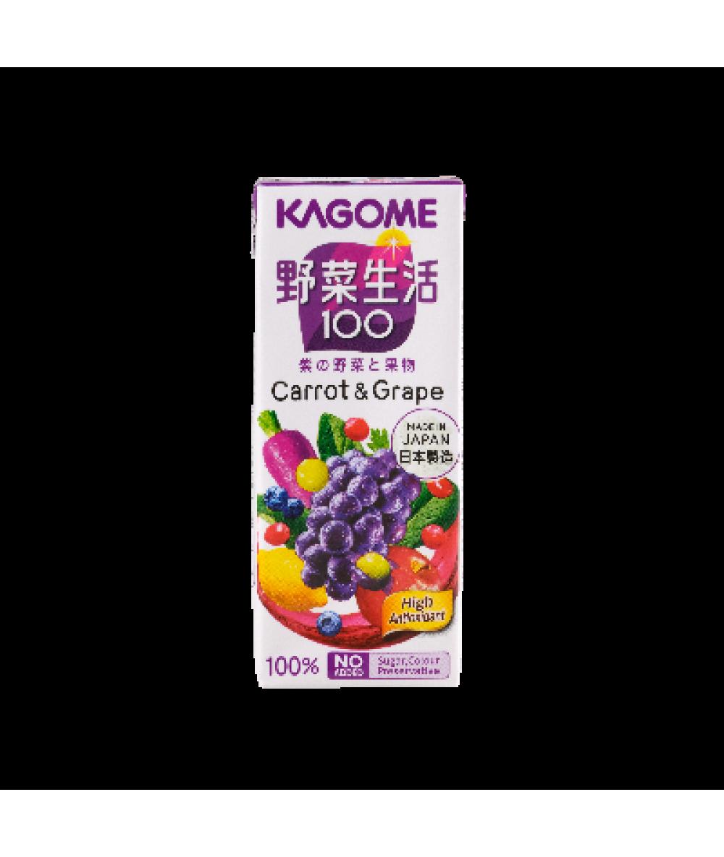 Kagome Yasaiseikatsu Carrot & Grape 200ml