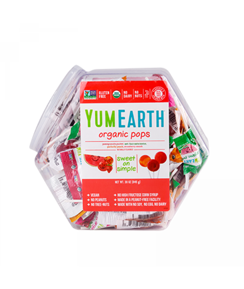 Yum Earth Assorted Lollipops 14 Ct 85g