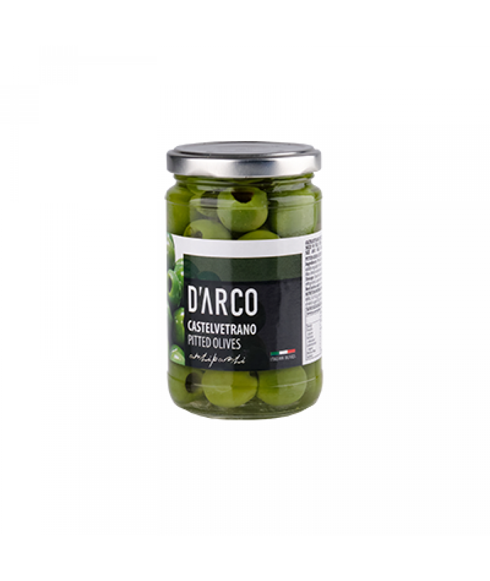 D'Arco Pitted Green Olives in Brine 300g