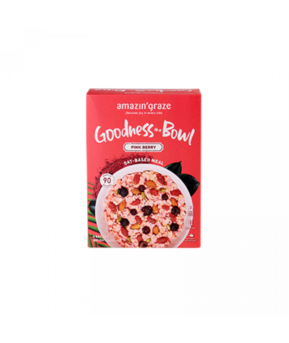 Amazin' Graze Goodness In A Bowl Pink Berry 6x40g