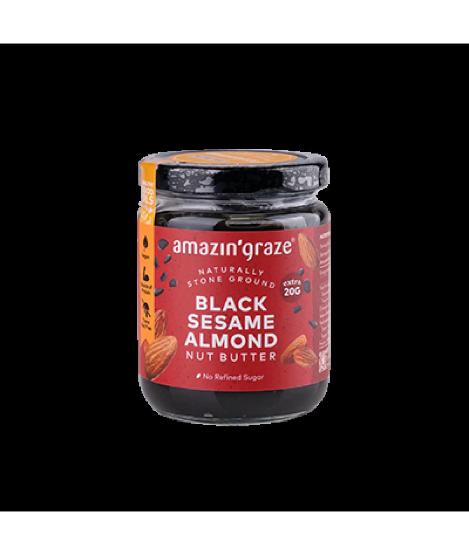 Amazin' Graze Black Sesame Almond Butter 200g