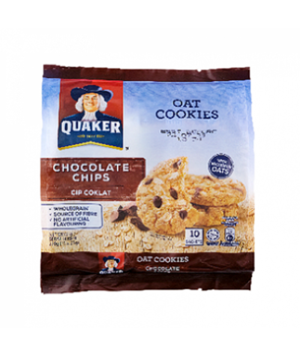 Quaker Oat Cookies Choco Chips 270g