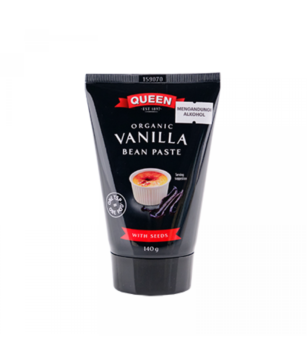 Queen Organic Vanilla Bean Paste with Seed 140g