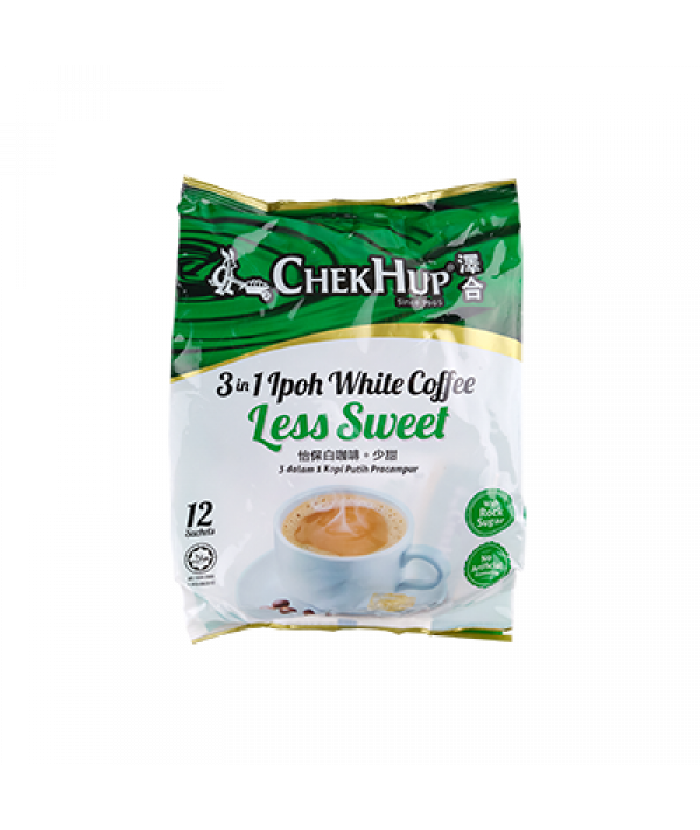 Chek Hup  3 in 1 Ipoh White Coffee Less Sweet 12ba