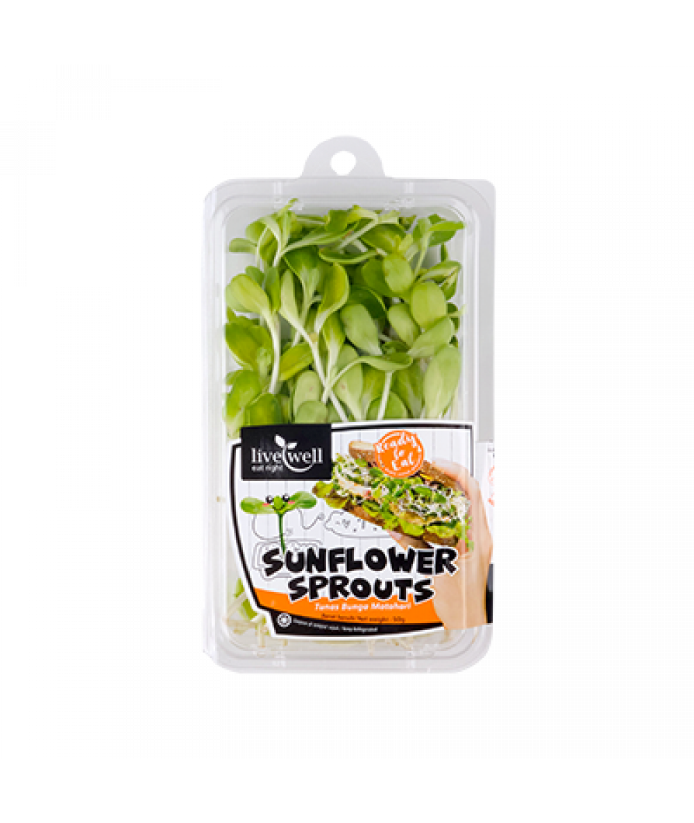 LiveWell Sunflower Sprouts 50g