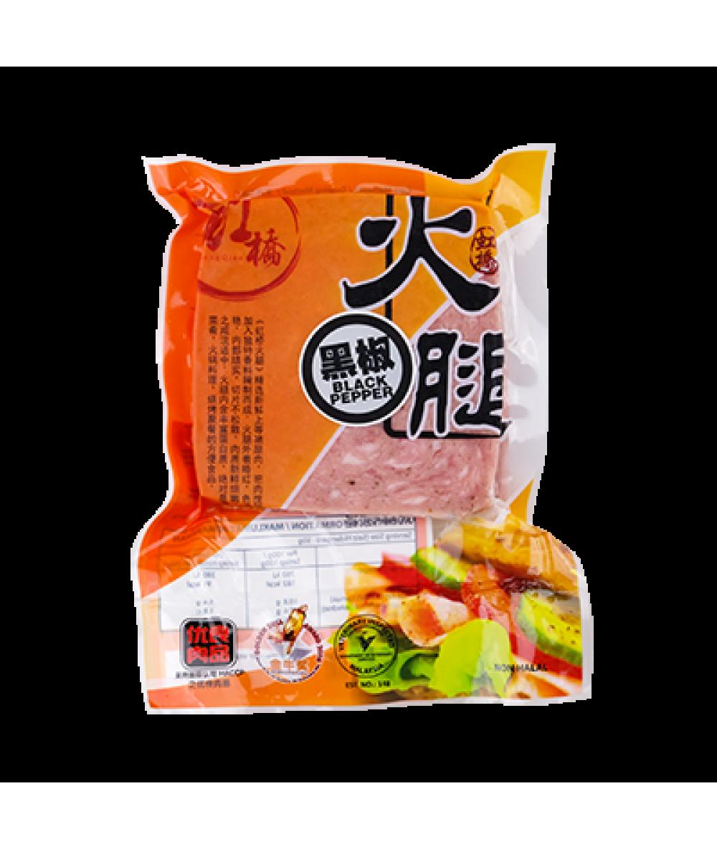 Hong Qiao Ham Slice Black Pepper 250g