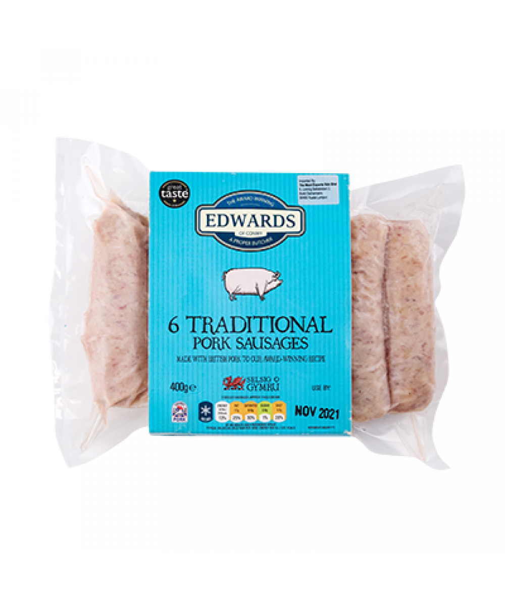 Edwards Traditional Sausages 400g