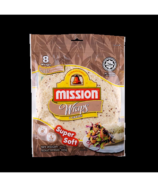Mission Wraps 6 Grains 360g