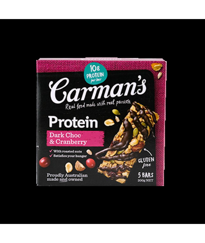 Carman's DarkChoc&Cranb ProteinBars 200g