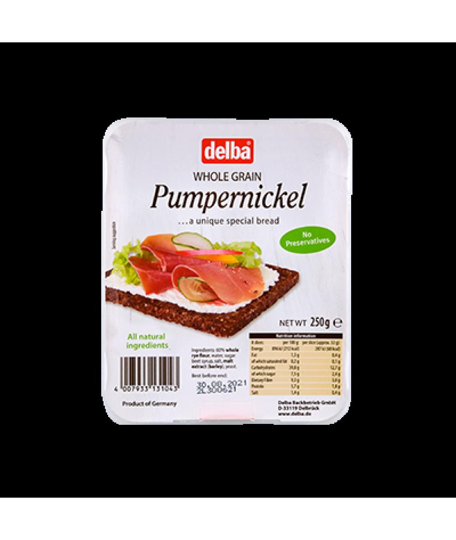 Delba Pumpernickel Bread 250g