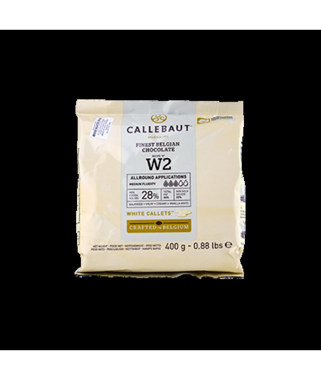 Callebaut W2 White Choc Callets 400g