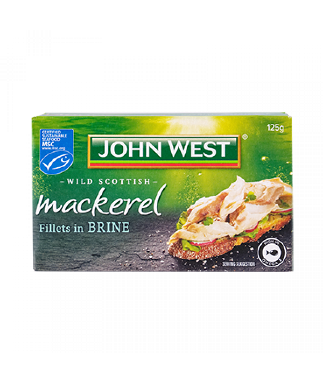 John West Mackerel Fil Brine 125g