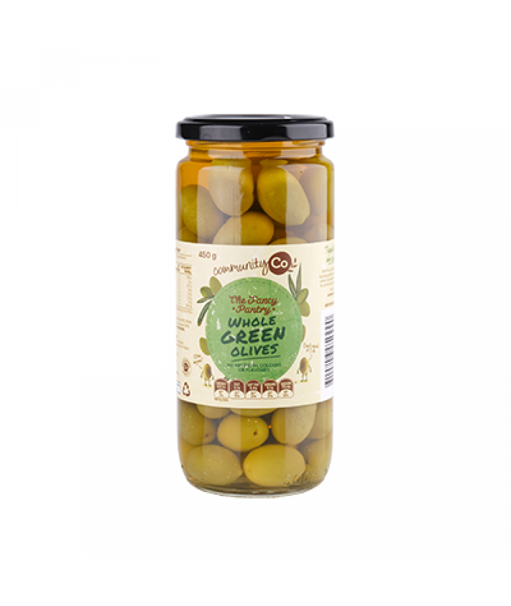 Community Co Whole Green Olives 450g