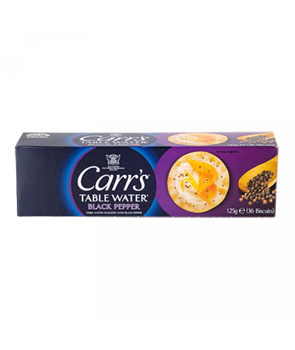 Carr's Table Water Crackers Cracked Pepper 125g