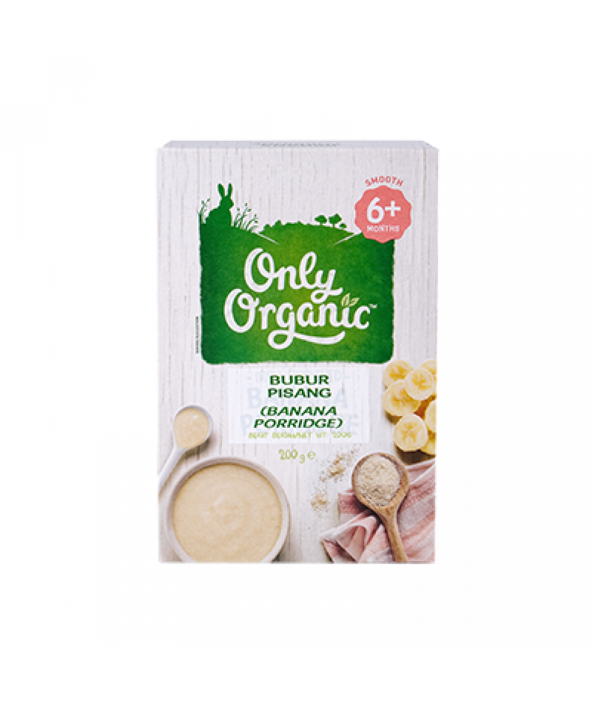 Only Organic Banana Porridge (Box) 200g
