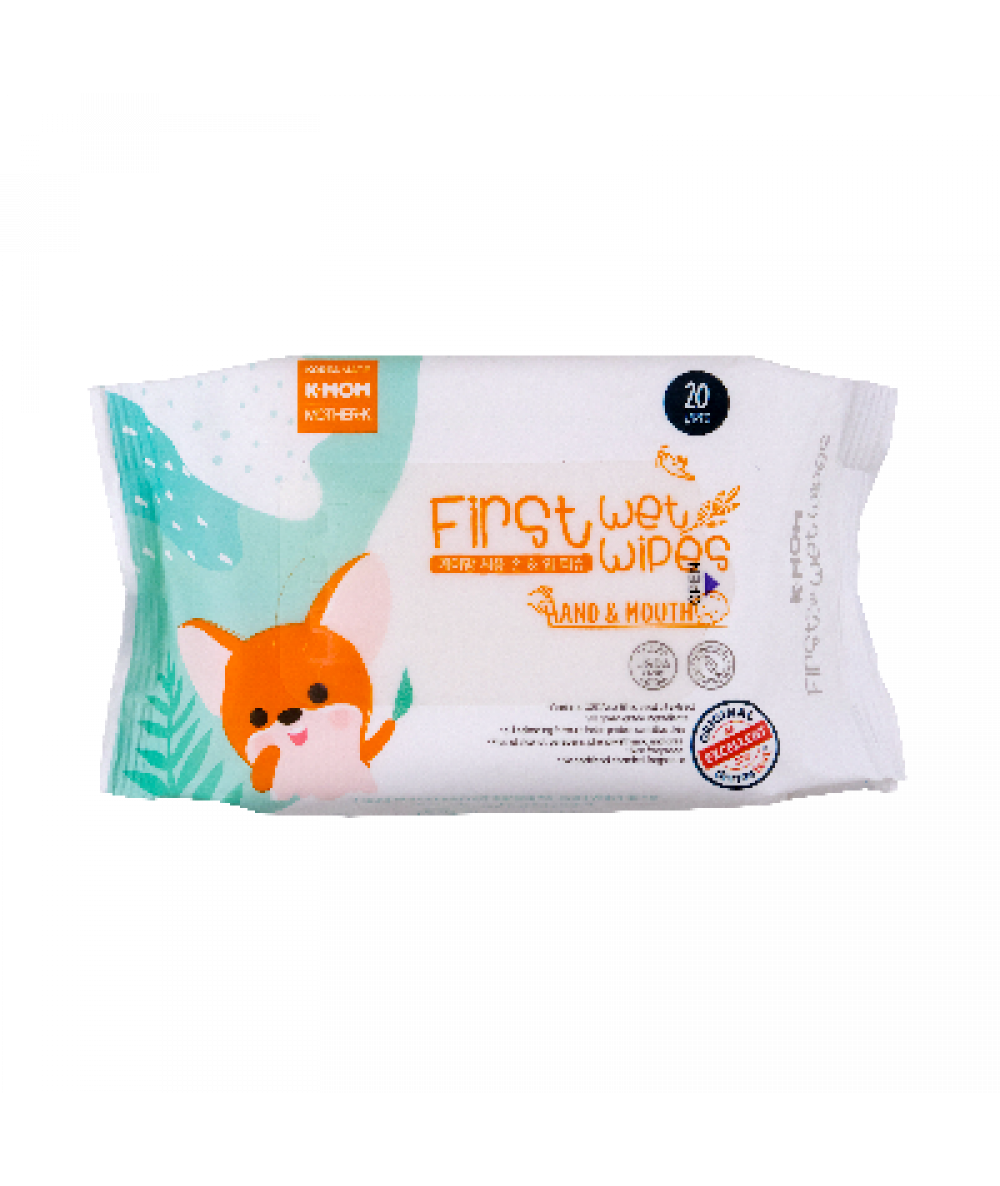 K-mom First Wet Wipes Hand & Mouth 20s