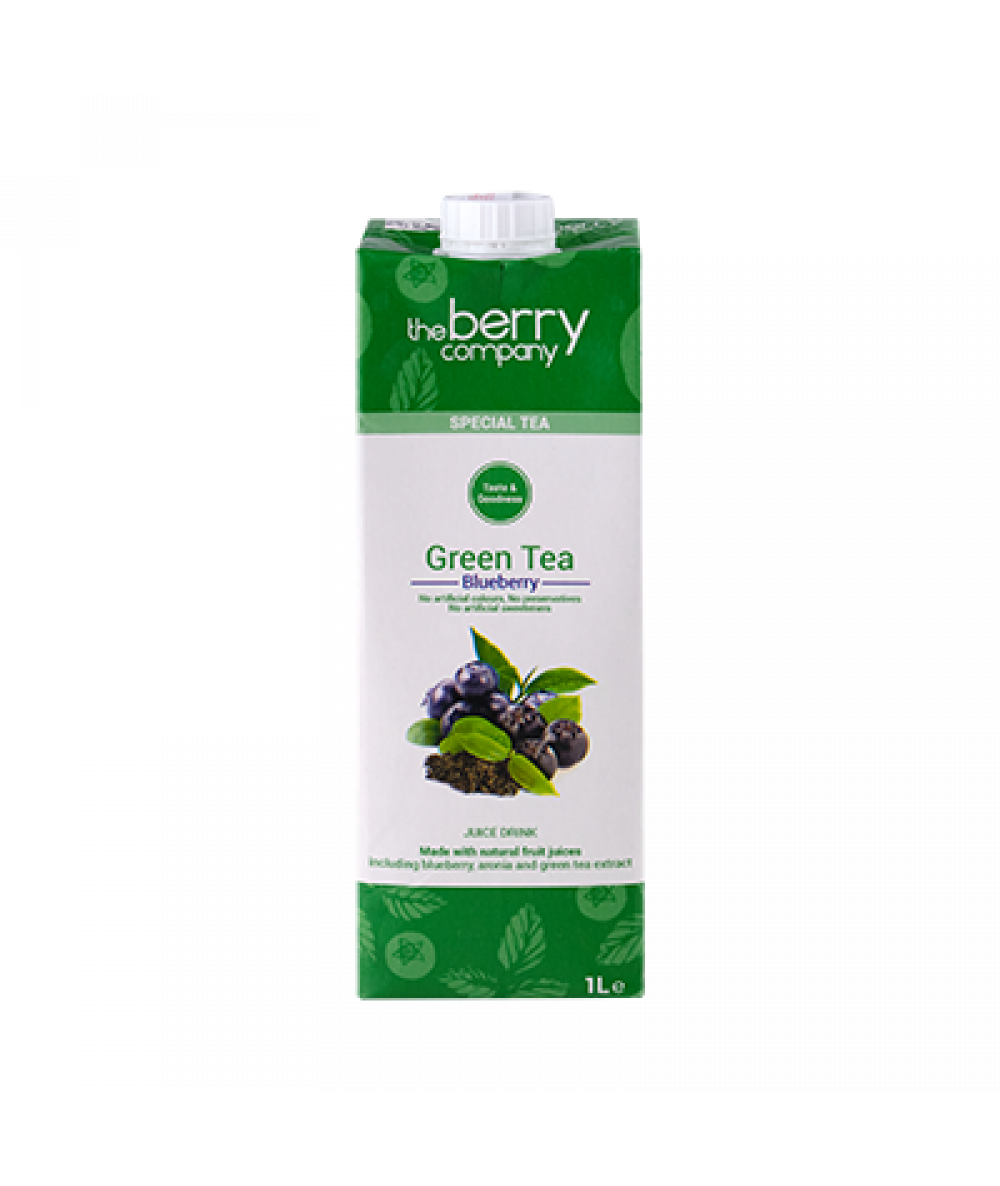 The Berry Company Green Tea Blueberry 1L