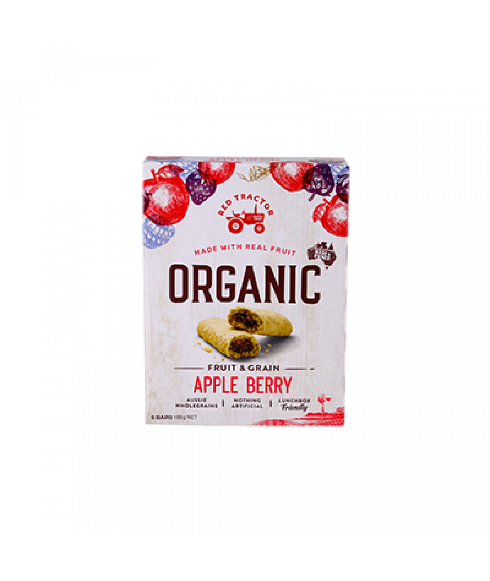 Red Tractor Organic Apple Berry Fruit Filled Bars
