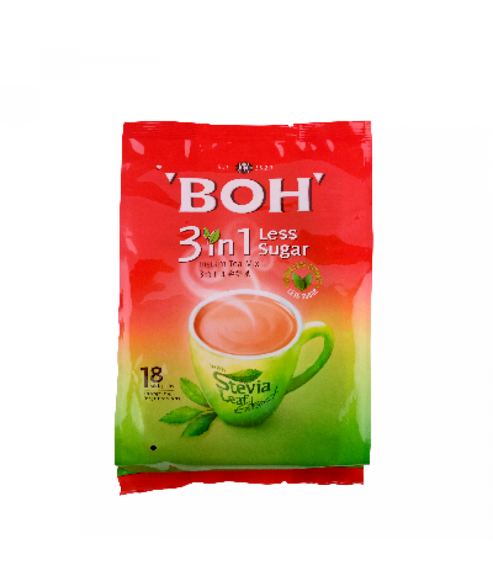 Boh 3 in1 Less Sugar  18s