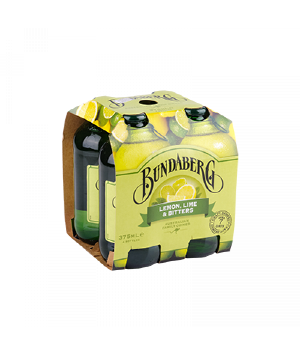 Bundaberg Lemon Lime & Bitter 4x 375ml