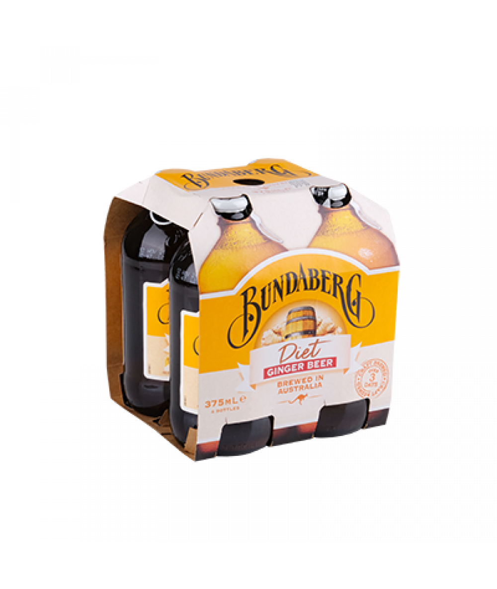 Bundaberg Ginger Beer Diet 4x 375ml