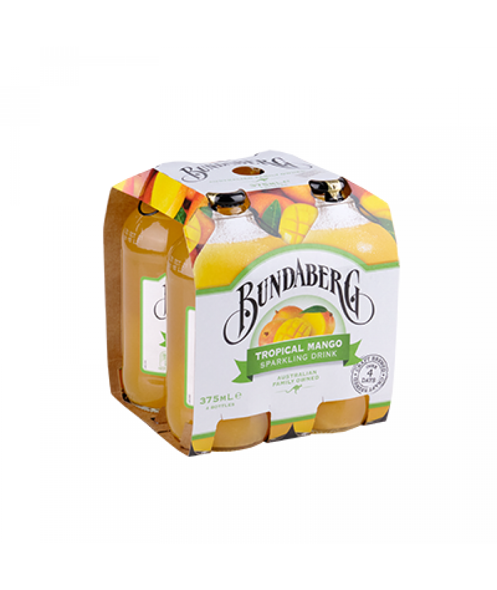 Bundaberg Tropical Mango 4x 375ml