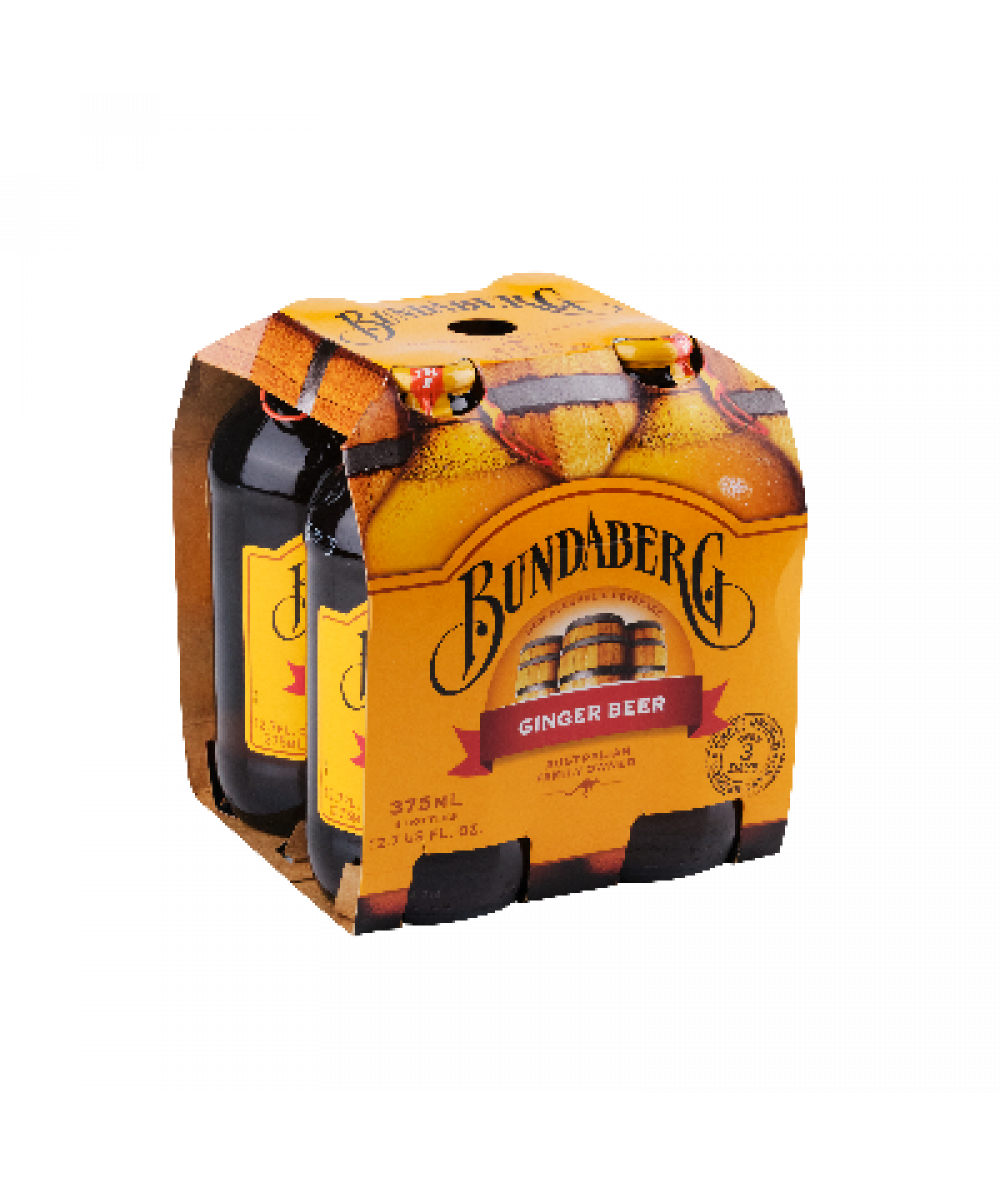 Bundaberg Ginger Beer 4x 375ml