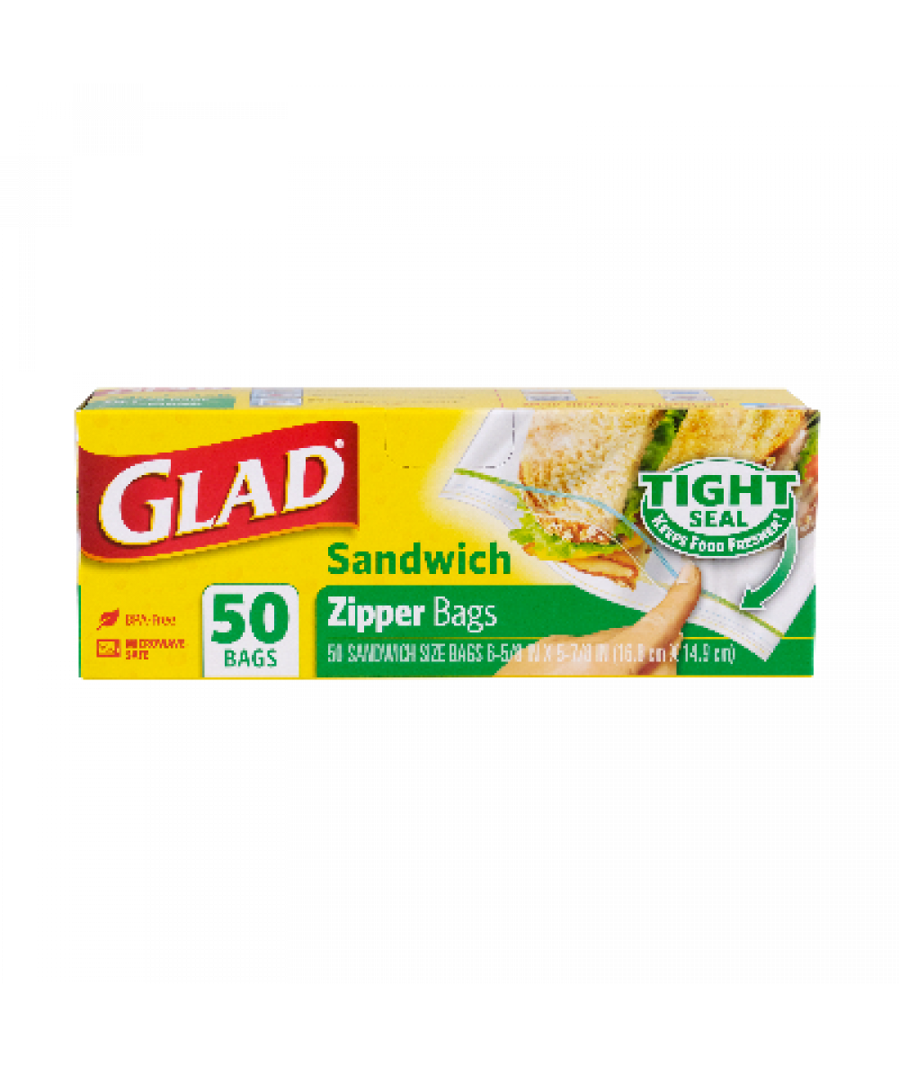 Glad Zipper Sandwich Bag 50s