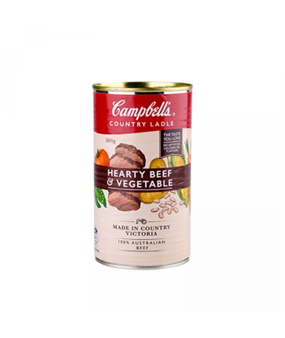 Campbells Country Ladle Hearty Beef & Veg. 500g