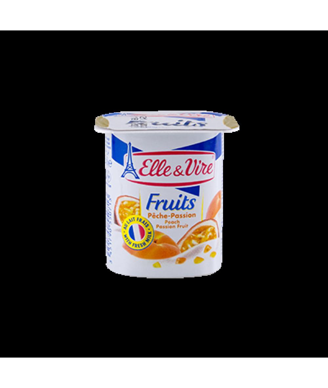 Elle & Vire Dessert Peach/Passion 125g
