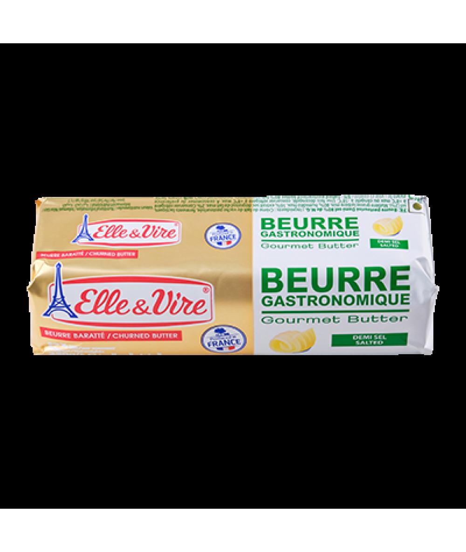 Elle & Vire Gourmet Salted Butter 82% Fat Roll 250