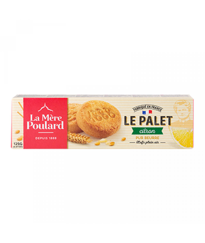 La Mere Poulard Palets Citron - Lemon French Short